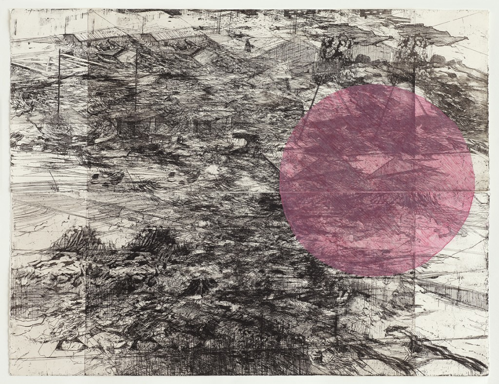 200,000 shift Double etching overlay with chine colle circle 2012 £ 550 unframed Ed 5 Variable