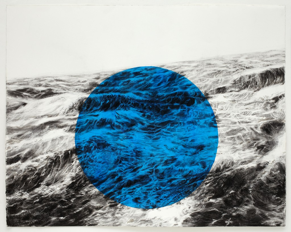 Sea Site 2013 charcoal Drawing on watercolour paper with watercolour 151cm x 122 £2,000